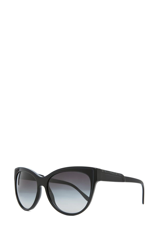 Image 2 of Stella McCartney Sunglasses in Black & Grey Gradient
