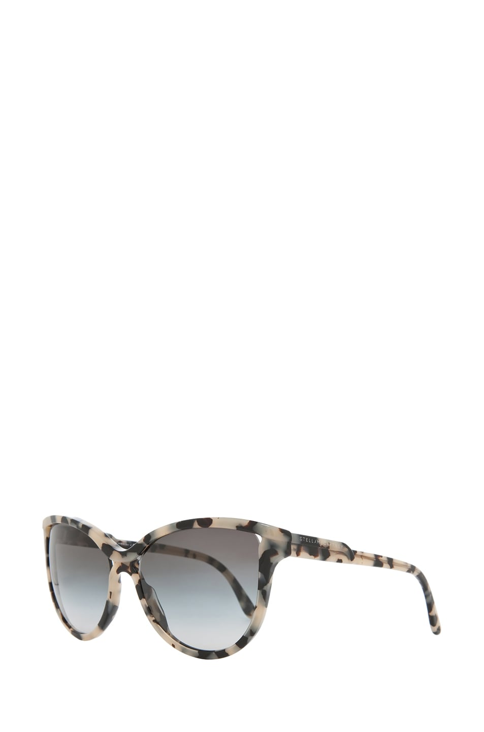 Image 2 of Stella McCartney Grey Gradient Sunglasses in Grey Spotty Tortoise