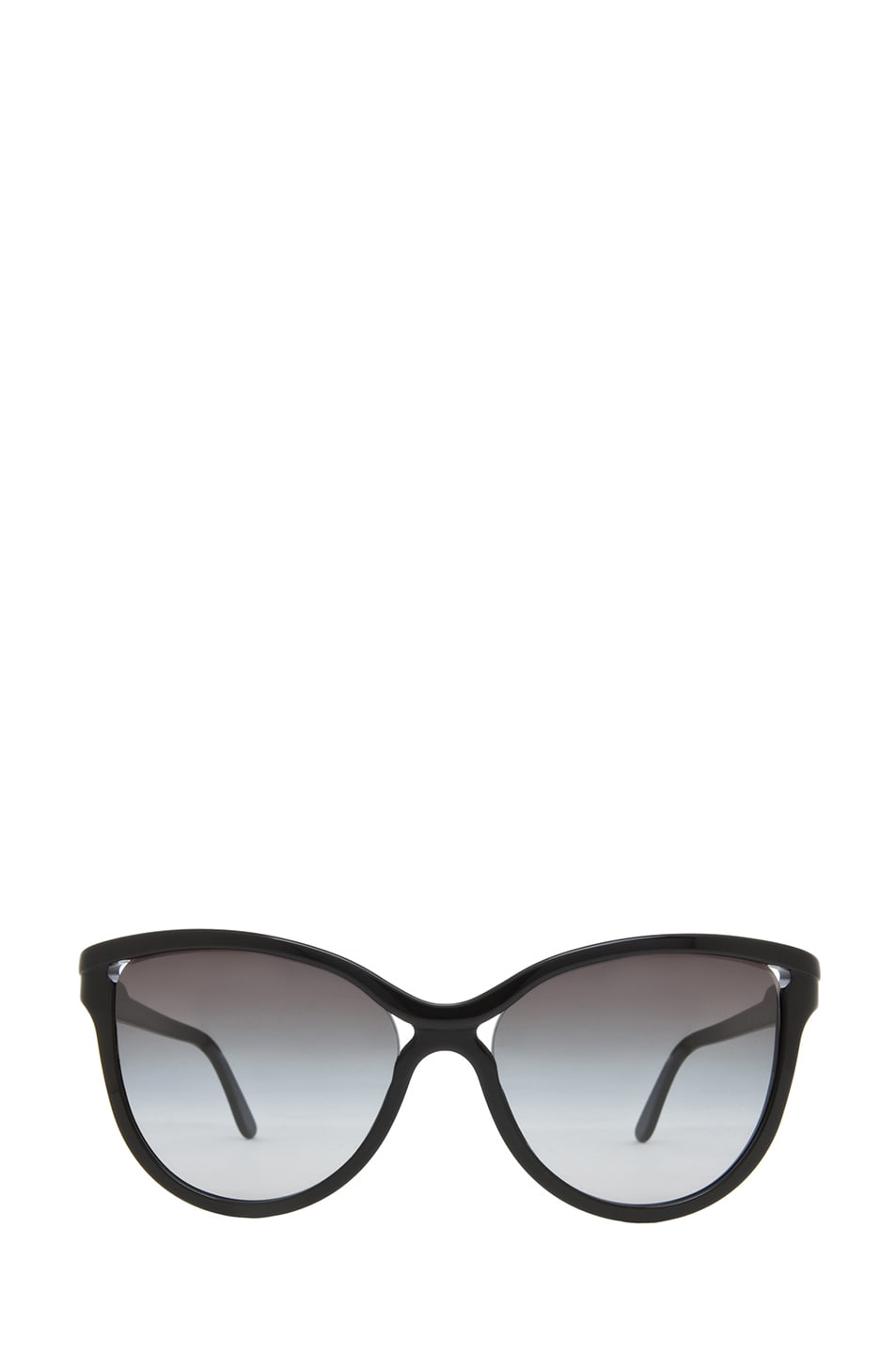Image 1 of Stella McCartney Rounded Cat Eye Sunglasses in Black & Grey Gradient