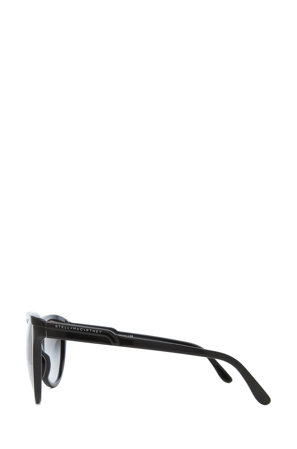 Image 3 of Stella McCartney Rounded Cat Eye Sunglasses in Black & Grey Gradient