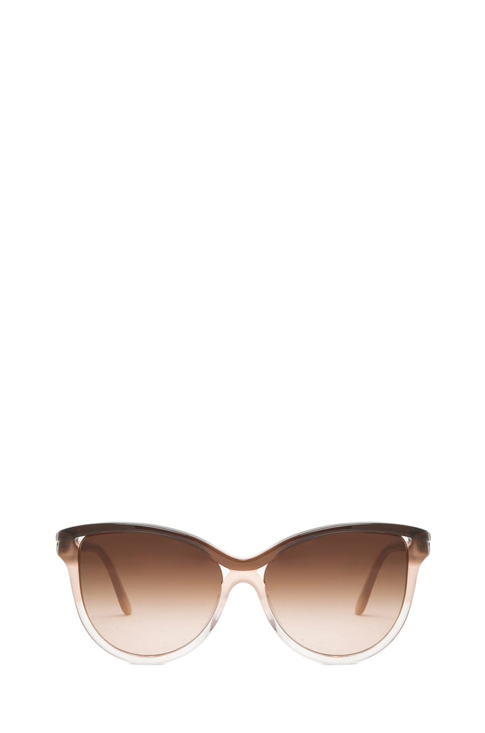 Image 1 of Stella McCartney Rounded Cat Eye Sunglasses in Brown Fade