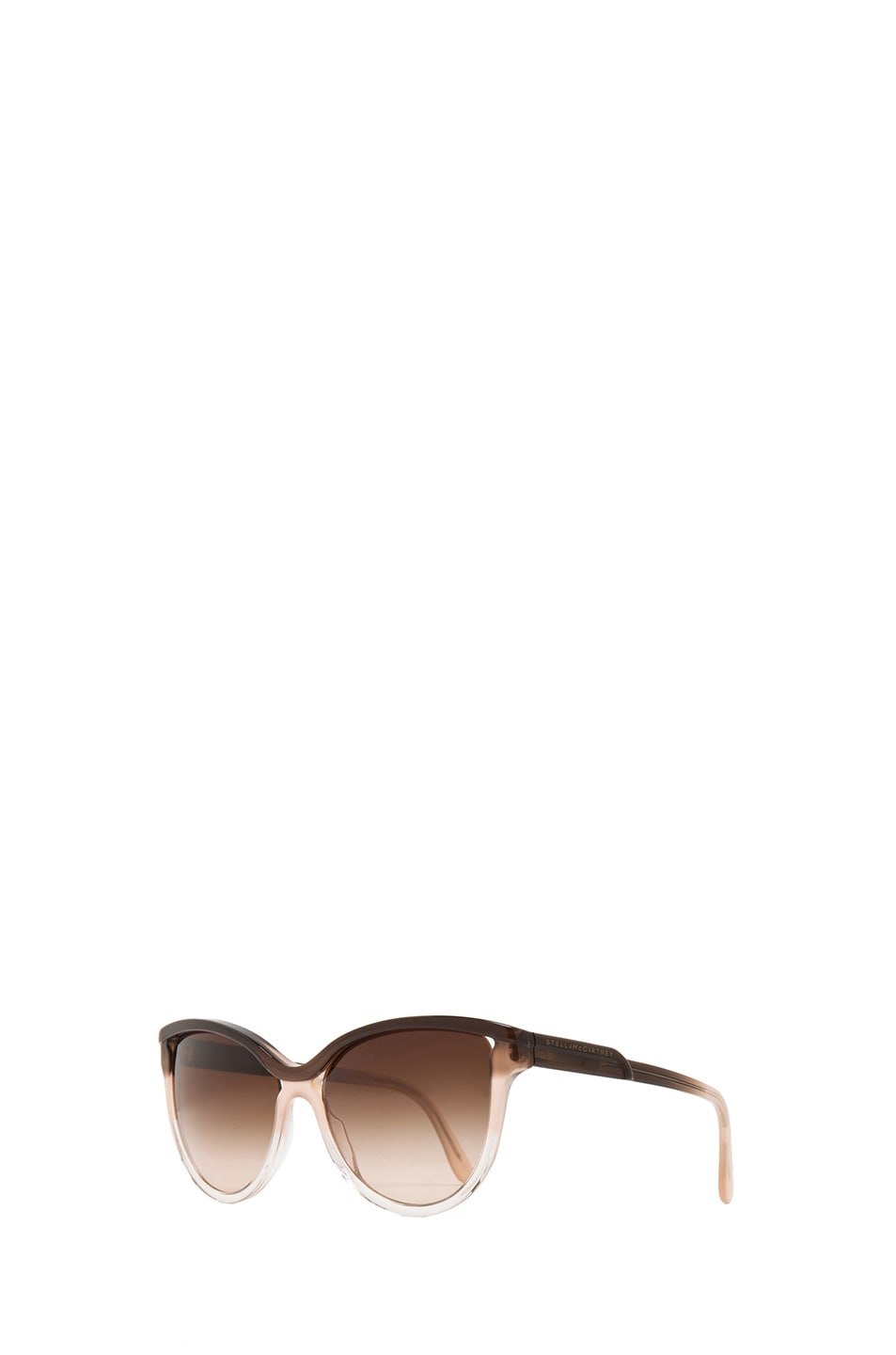 Image 2 of Stella McCartney Rounded Cat Eye Sunglasses in Brown Fade