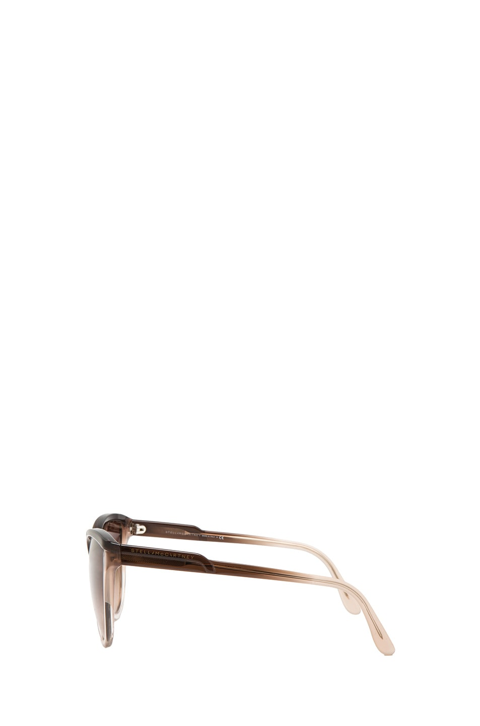 Image 3 of Stella McCartney Rounded Cat Eye Sunglasses in Brown Fade