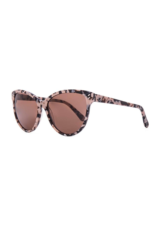 Image 2 of Stella McCartney Cat Eye Sunglasses in Pink Havana