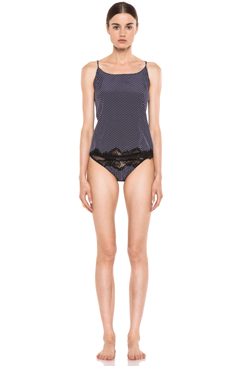 Image 5 of Stella McCartney Lingerie Ellia Leaping Camisole in Polka Dot Print