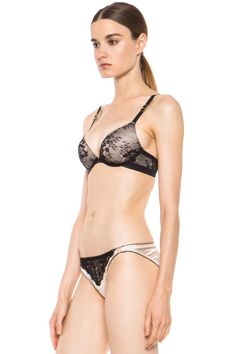 Image 2 of Stella McCartney Lace Plunge Bra in Black