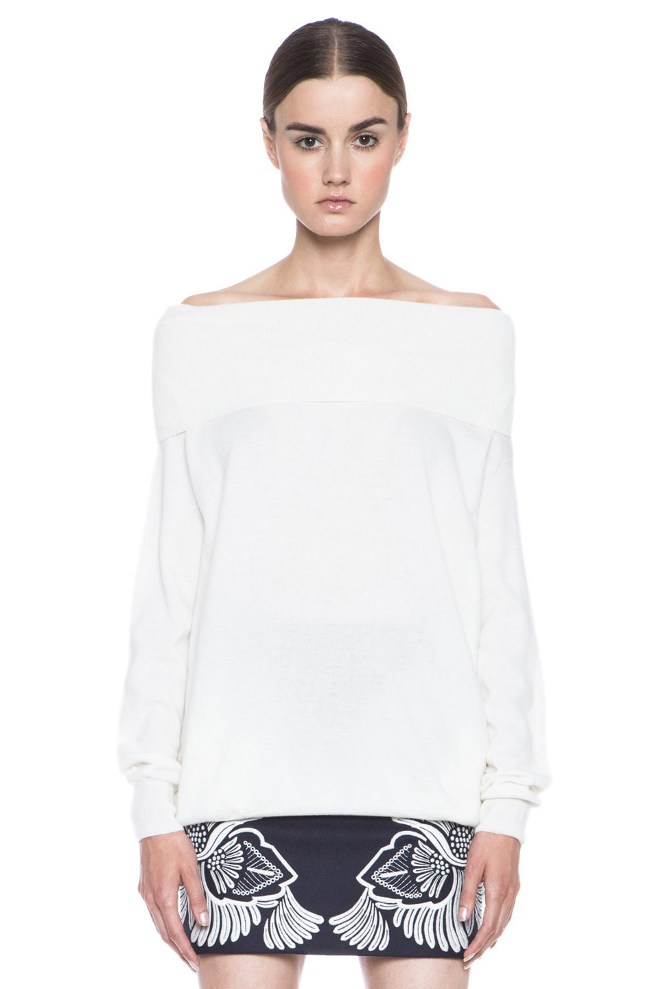 Image 1 of Stella McCartney Off the Shoulder Wool Sweater in Cream