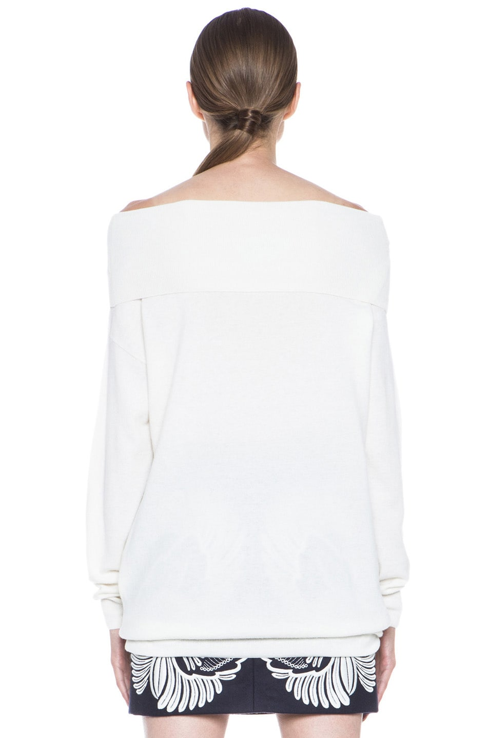 Image 4 of Stella McCartney Off the Shoulder Wool Sweater in Cream