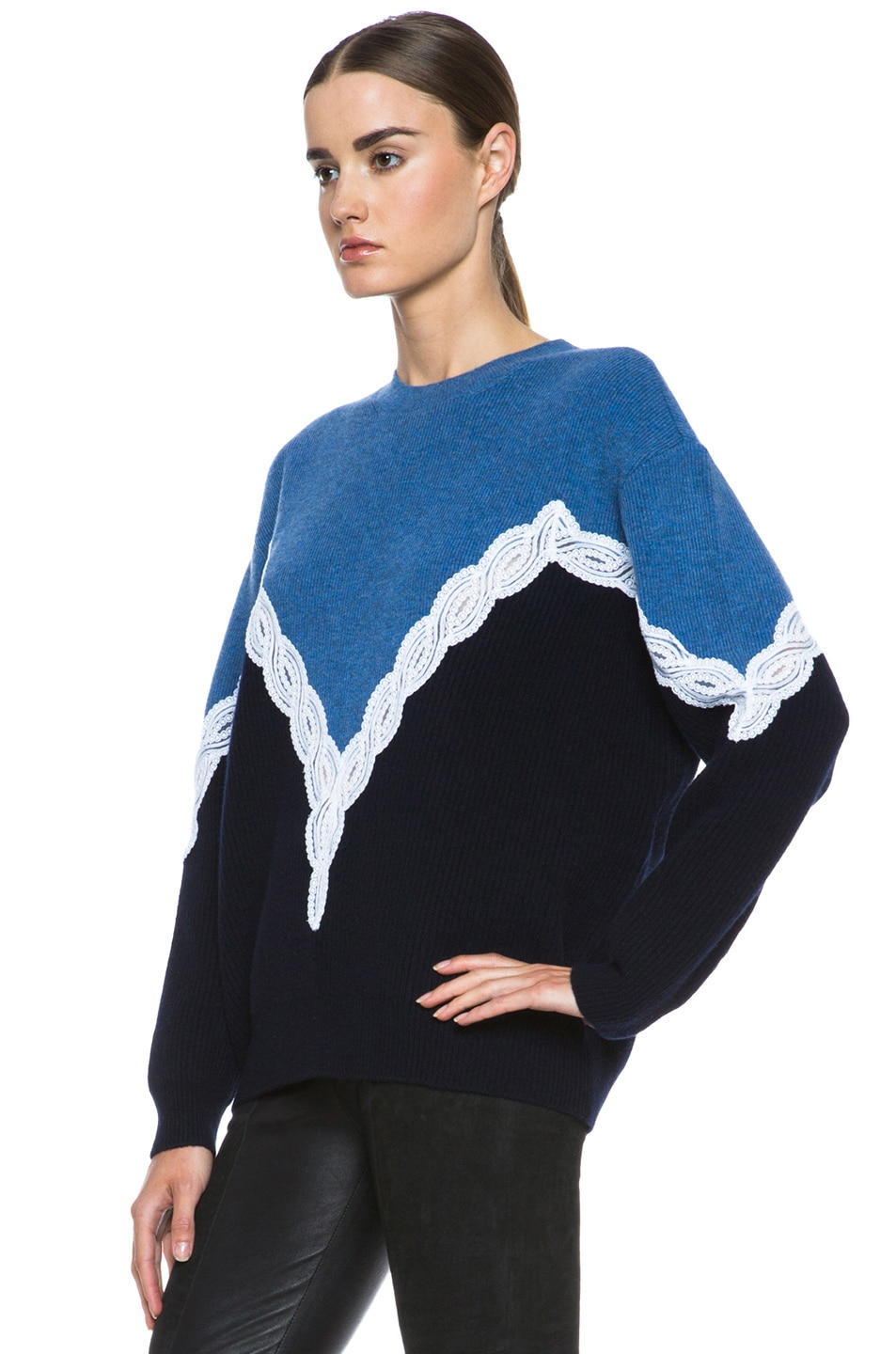Image 2 of Stella McCartney Lace Sweater in Blue
