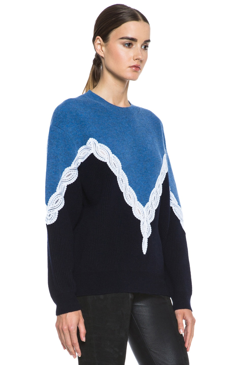 Image 3 of Stella McCartney Lace Sweater in Blue