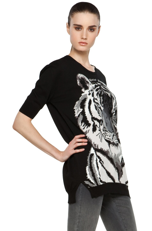 Image 3 of Stella McCartney Tiger Sweater in Black