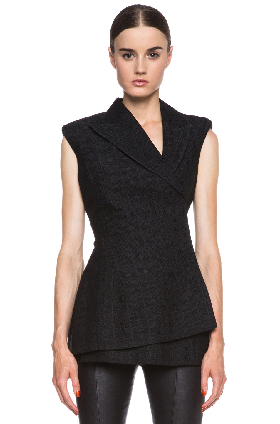 Image 1 of Stella McCartney Eloise Silk-Blend Blazer in Black