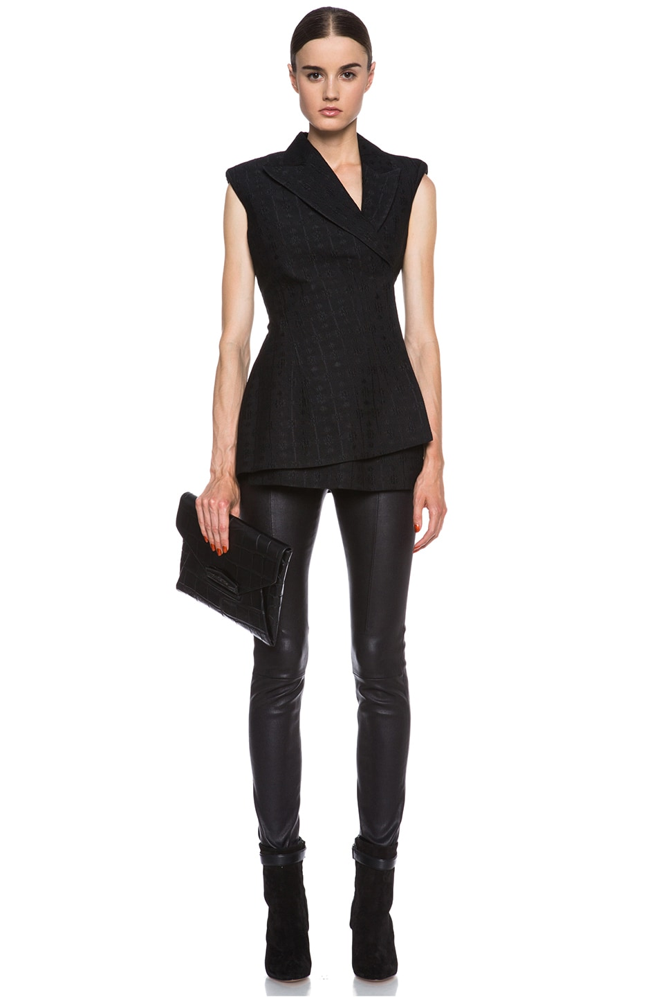 Image 5 of Stella McCartney Eloise Silk-Blend Blazer in Black