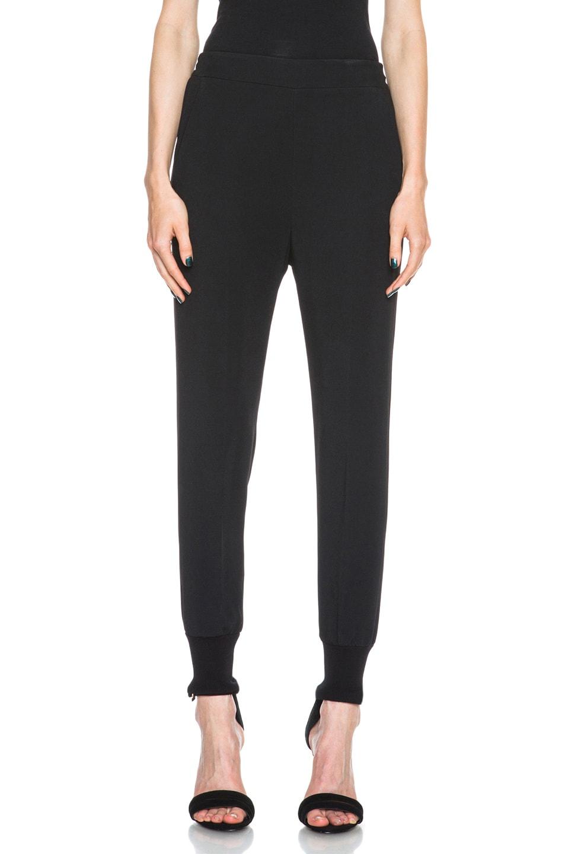 Image 1 of Stella McCartney Viscose-Blend Elastic Trouser in Black