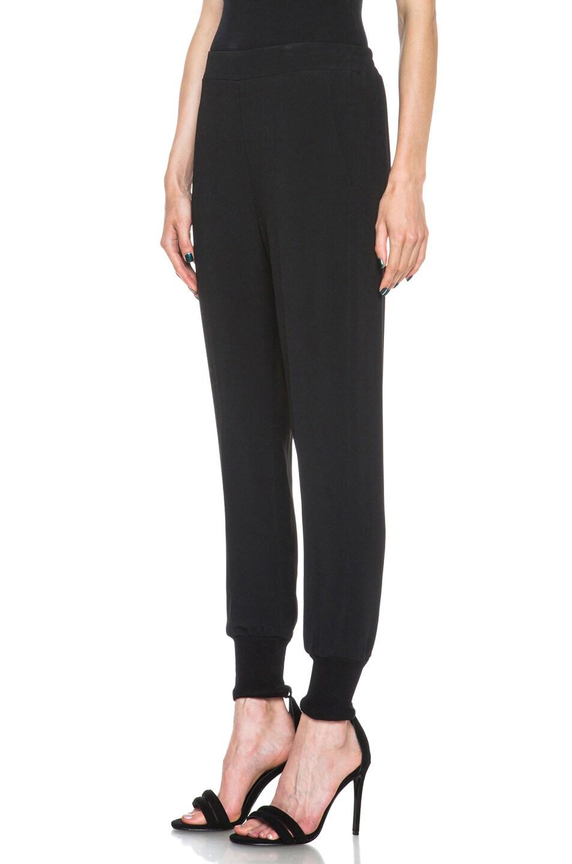 Image 2 of Stella McCartney Viscose-Blend Elastic Trouser in Black