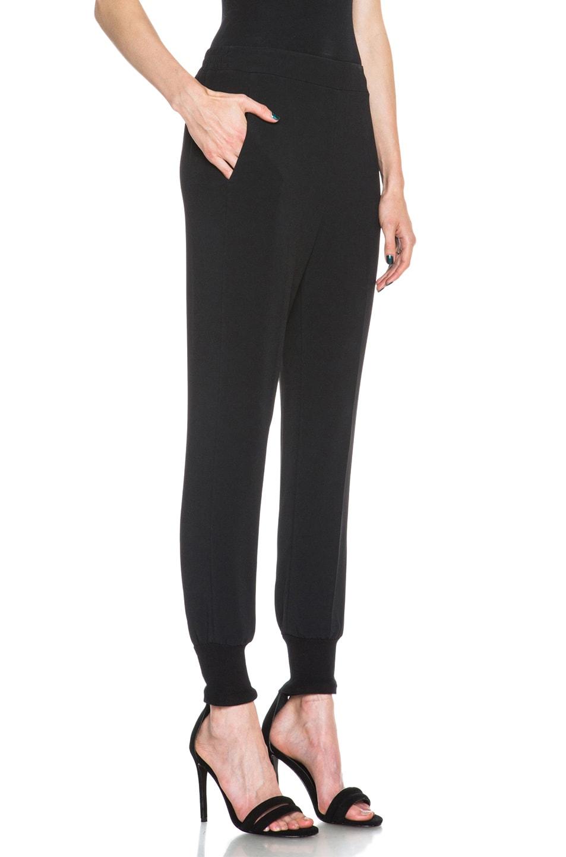 Image 3 of Stella McCartney Viscose-Blend Elastic Trouser in Black