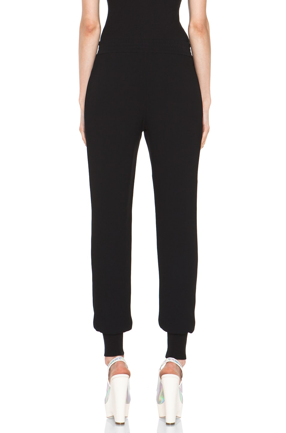 Image 4 of Stella McCartney Dahlia Mix Cady Trouser in Black