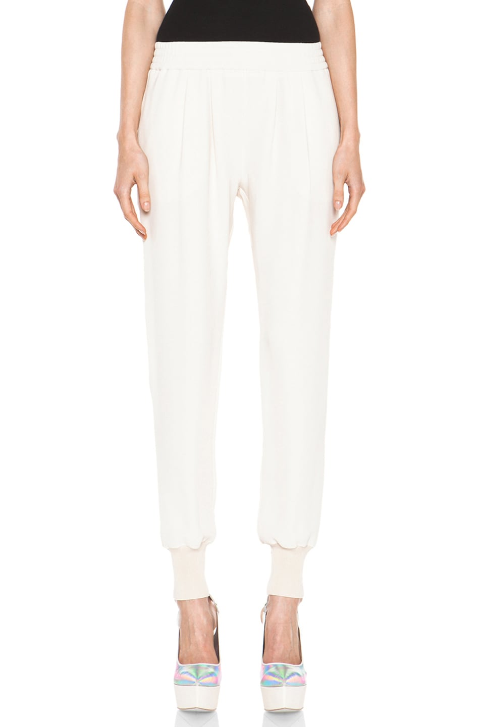 Image 1 of Stella McCartney Dahlia Mix Cady Trouser in Calico