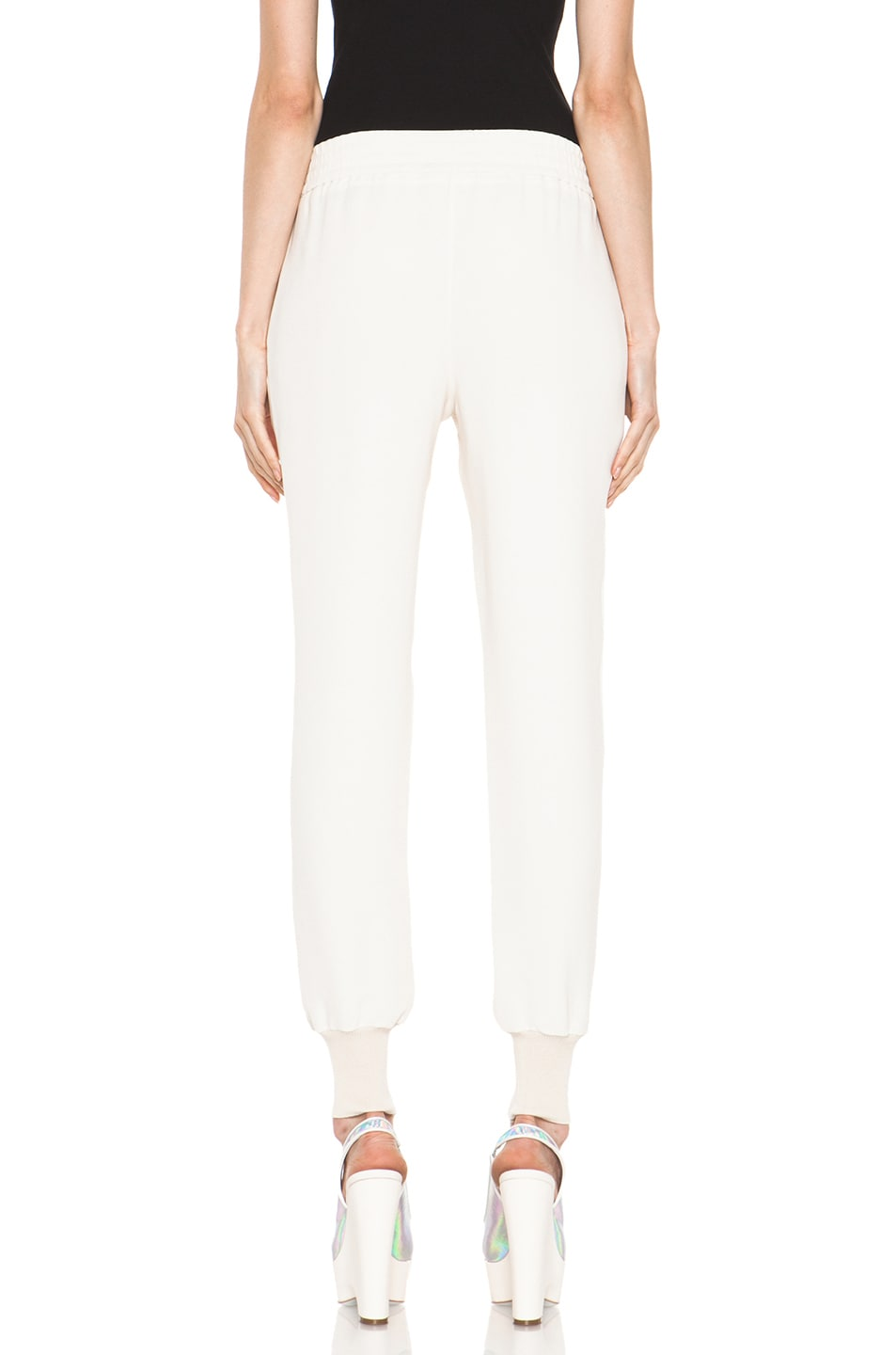 Image 4 of Stella McCartney Dahlia Mix Cady Trouser in Calico