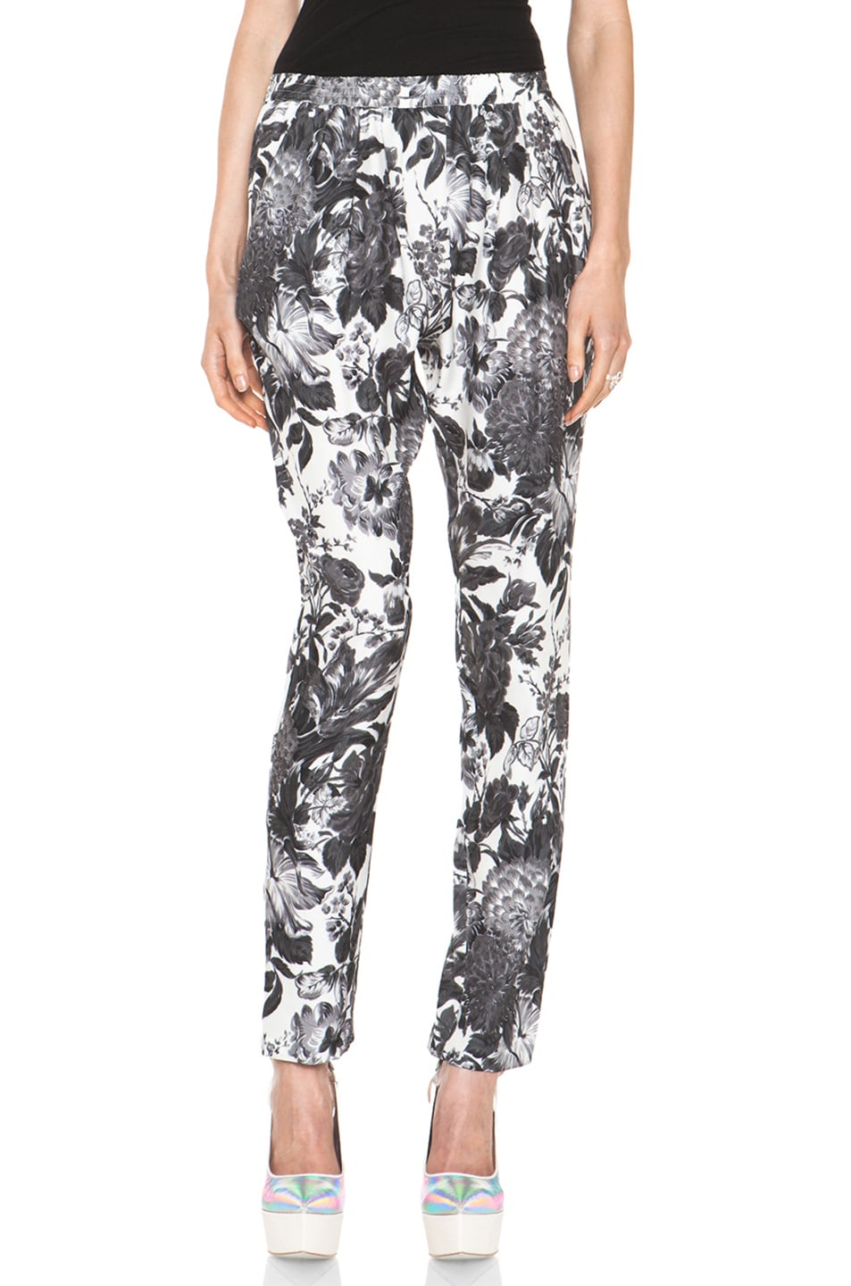 Image 1 of Stella McCartney Toile De Jouy Print Pant in Black Multi