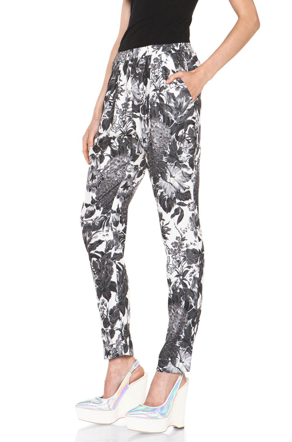 Image 2 of Stella McCartney Toile De Jouy Print Pant in Black Multi