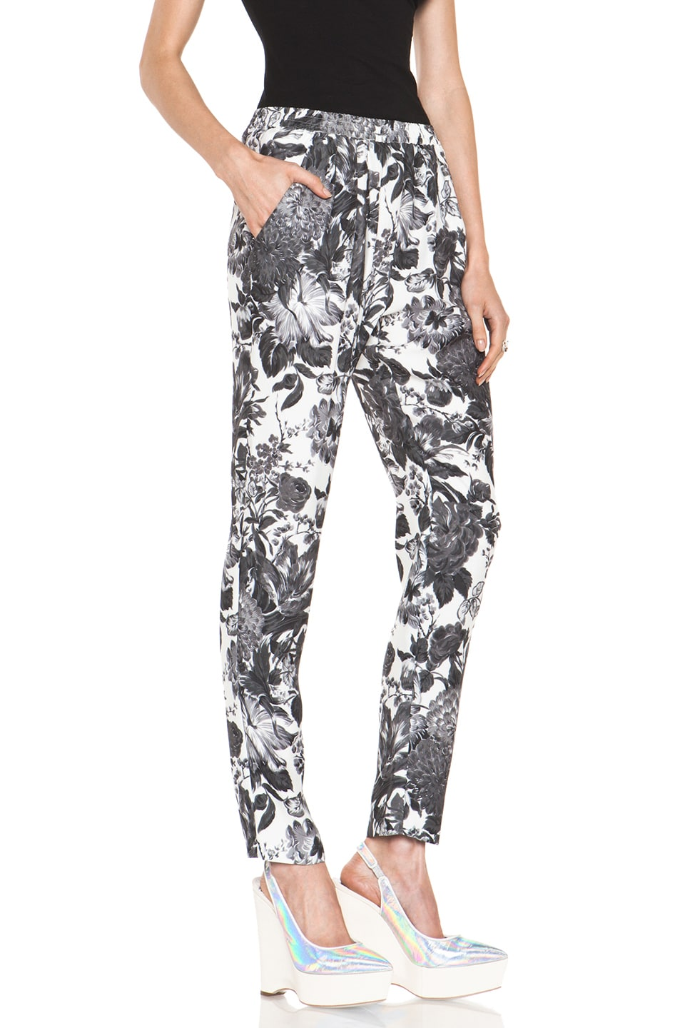 Image 3 of Stella McCartney Toile De Jouy Print Pant in Black Multi
