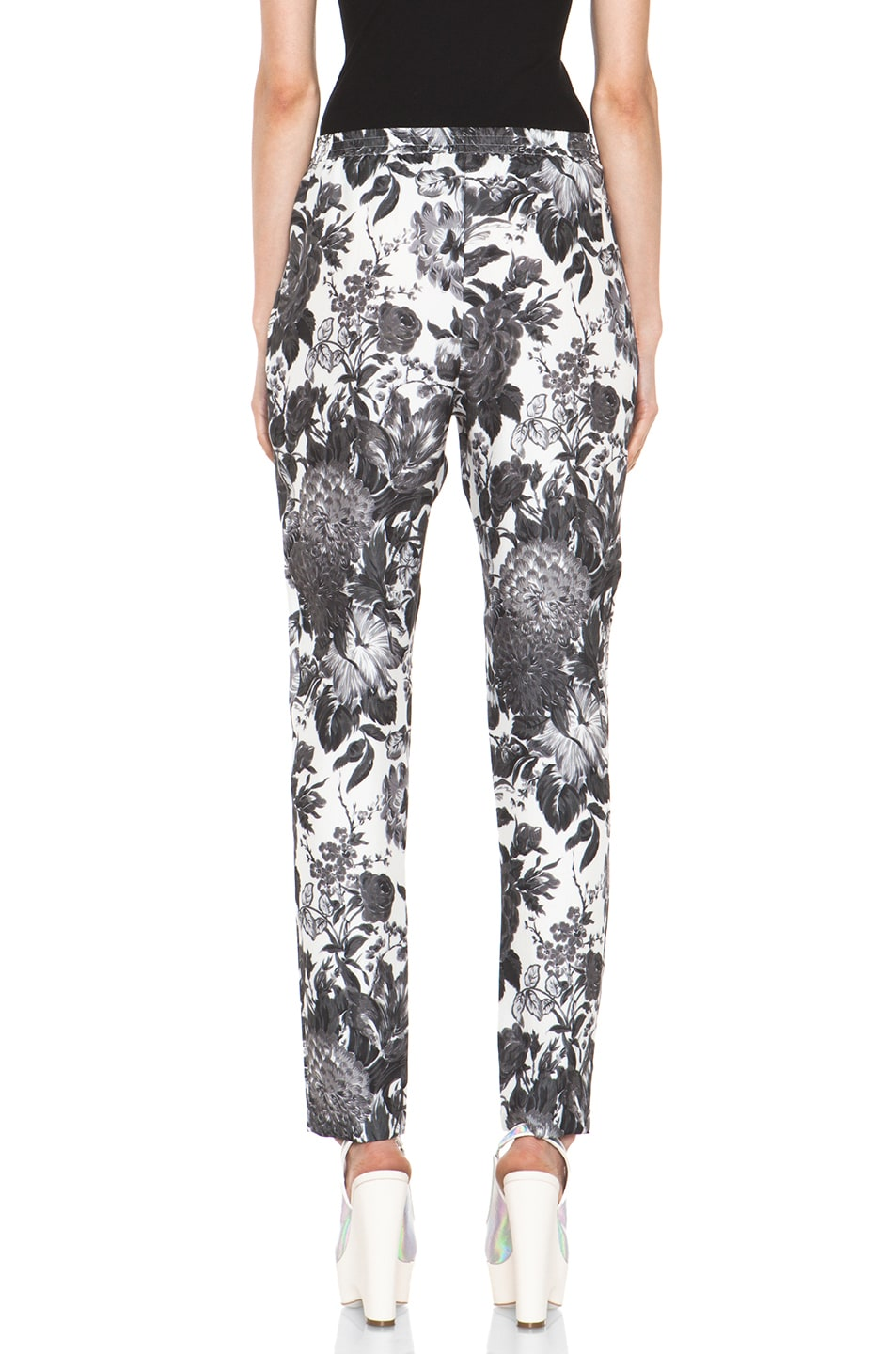 Image 4 of Stella McCartney Toile De Jouy Print Pant in Black Multi