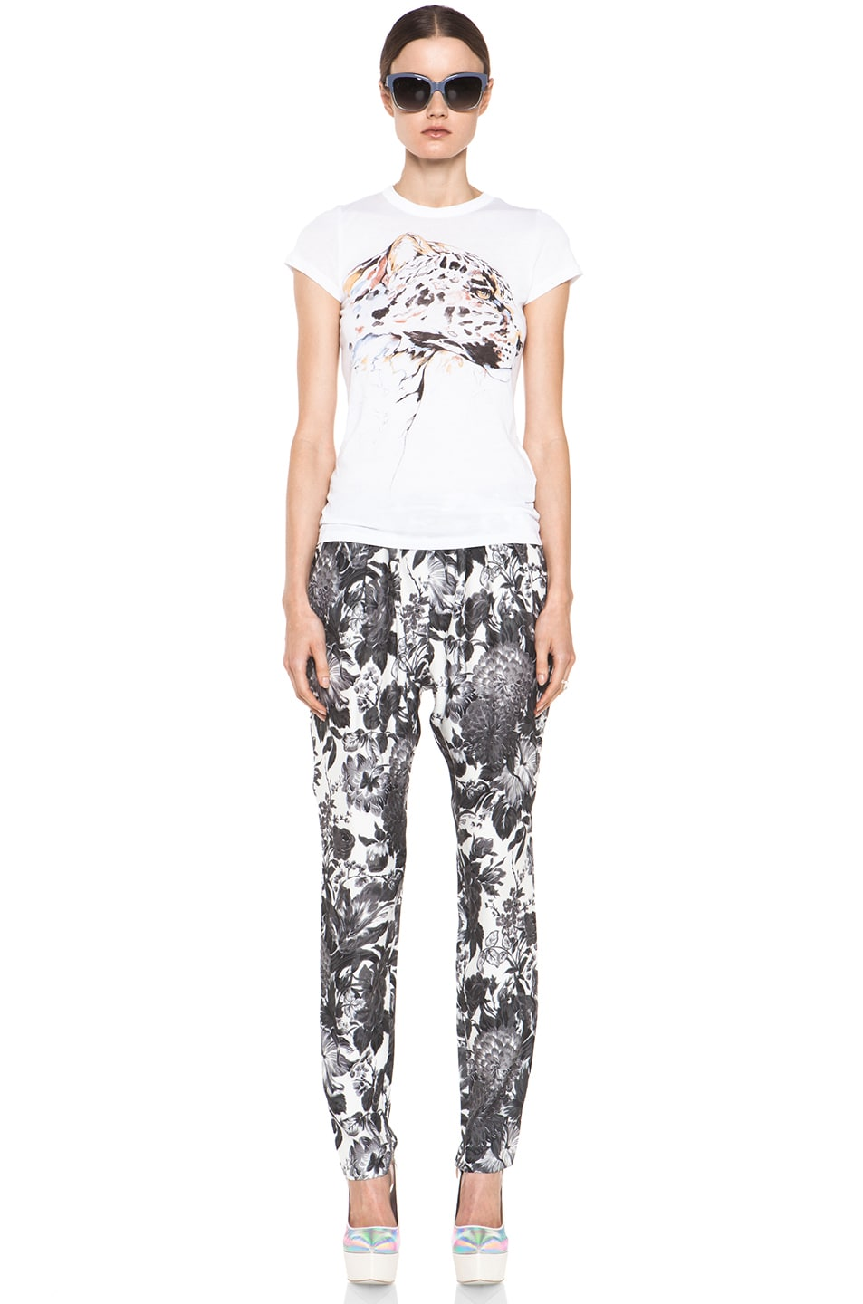 Image 5 of Stella McCartney Toile De Jouy Print Pant in Black Multi