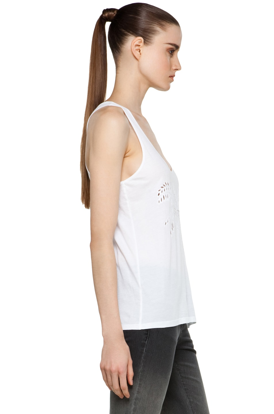 Image 3 of Stella McCartney Laser-Cut Tank in White