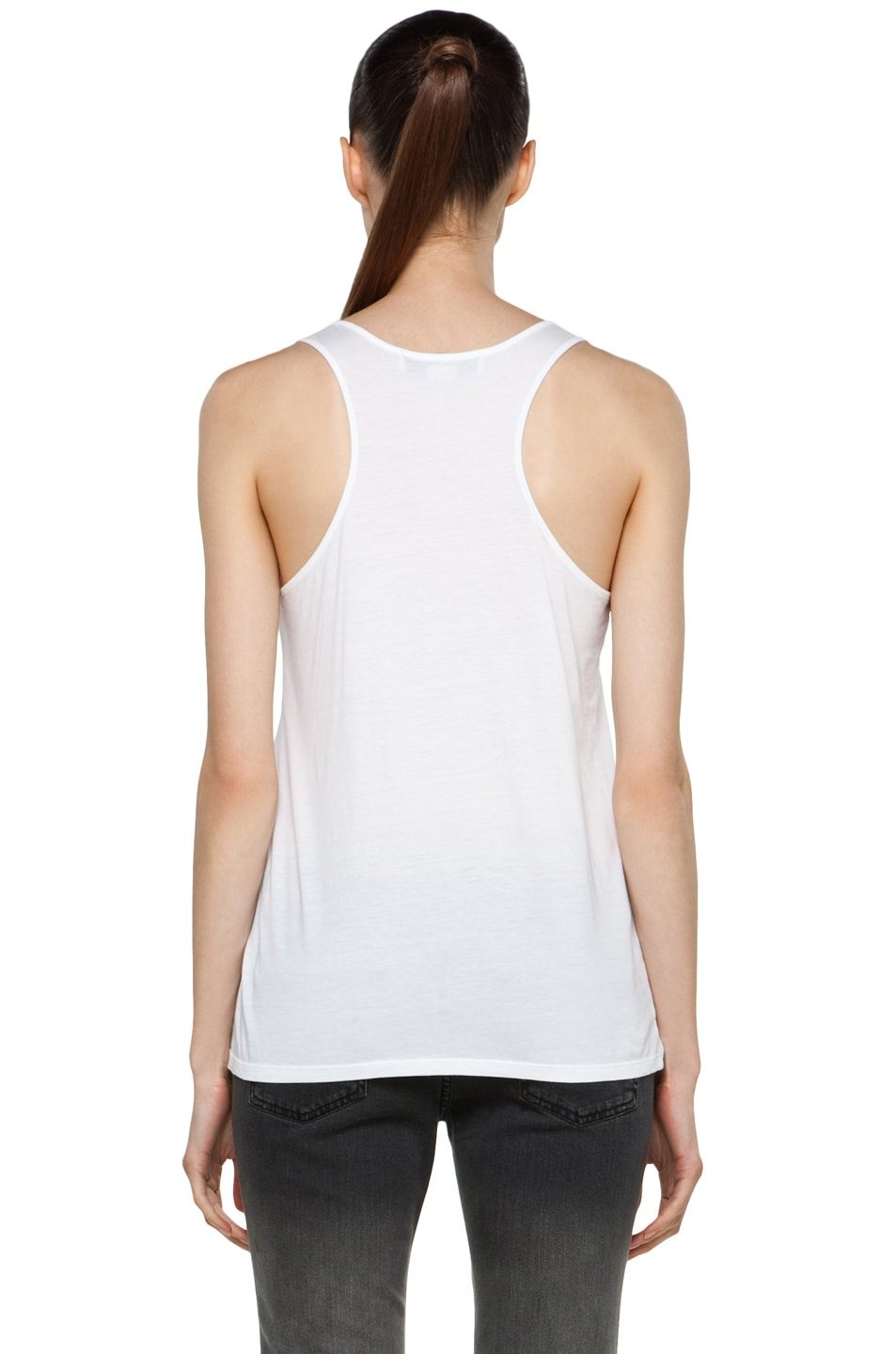 Image 4 of Stella McCartney Laser-Cut Tank in White