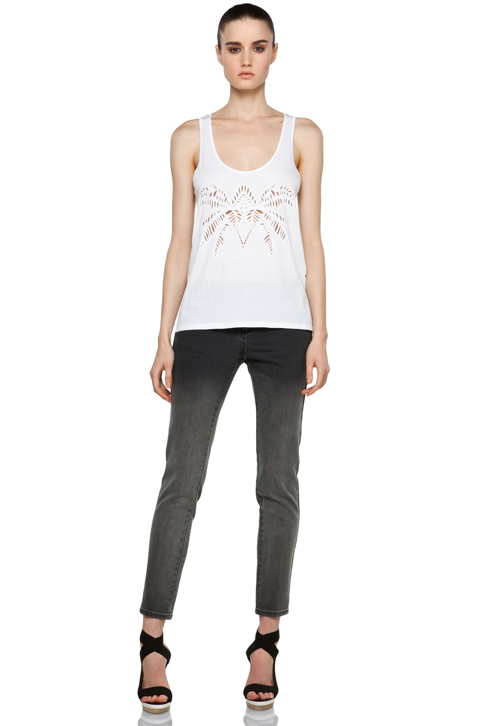Image 5 of Stella McCartney Laser-Cut Tank in White