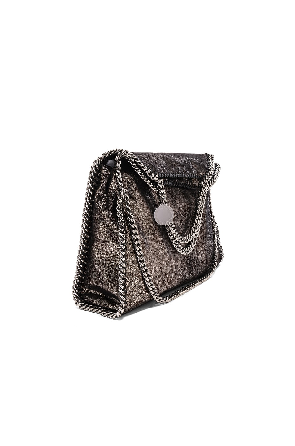 Image 1 of Stella McCartney Falabella Small Fold-Over Tote in Black