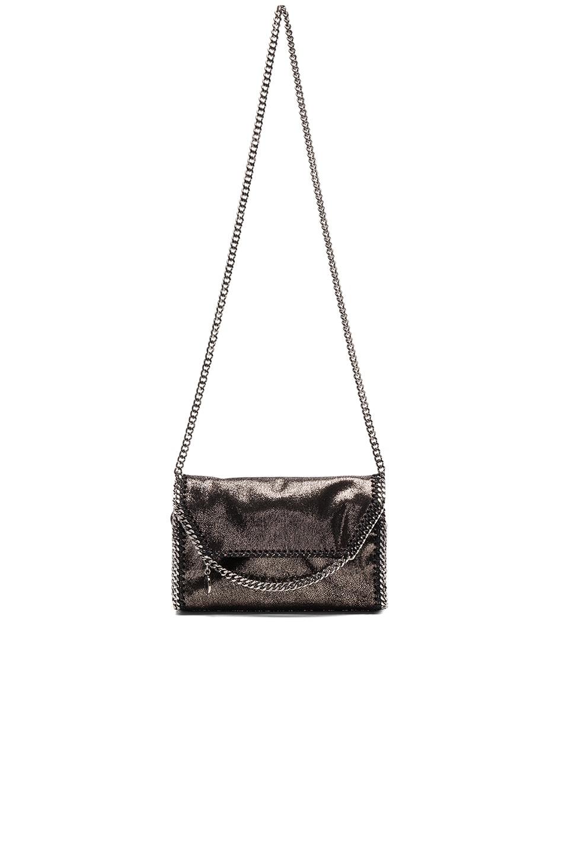 Image 5 of Stella McCartney Falabella Mini Shoulder Fold-Over in Black
