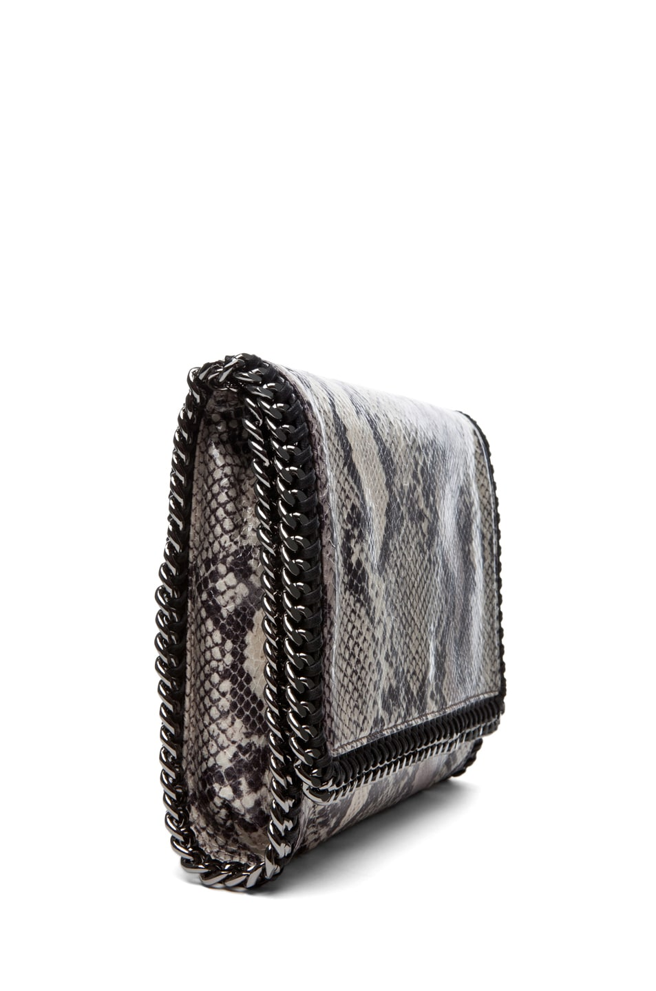 Image 3 of Stella McCartney Python VIP Shoulder Bag in Ivory