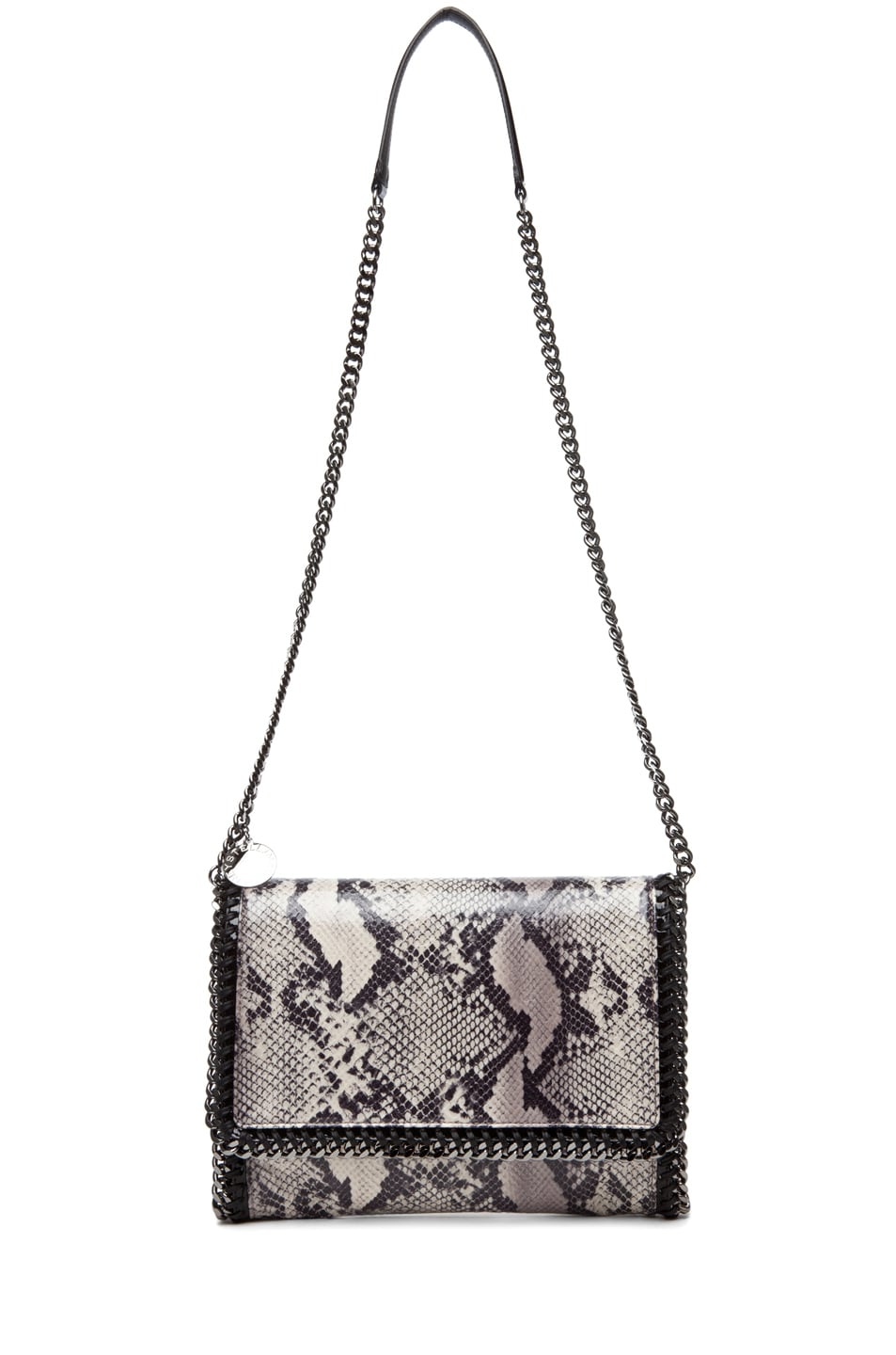 Image 5 of Stella McCartney Python VIP Shoulder Bag in Ivory