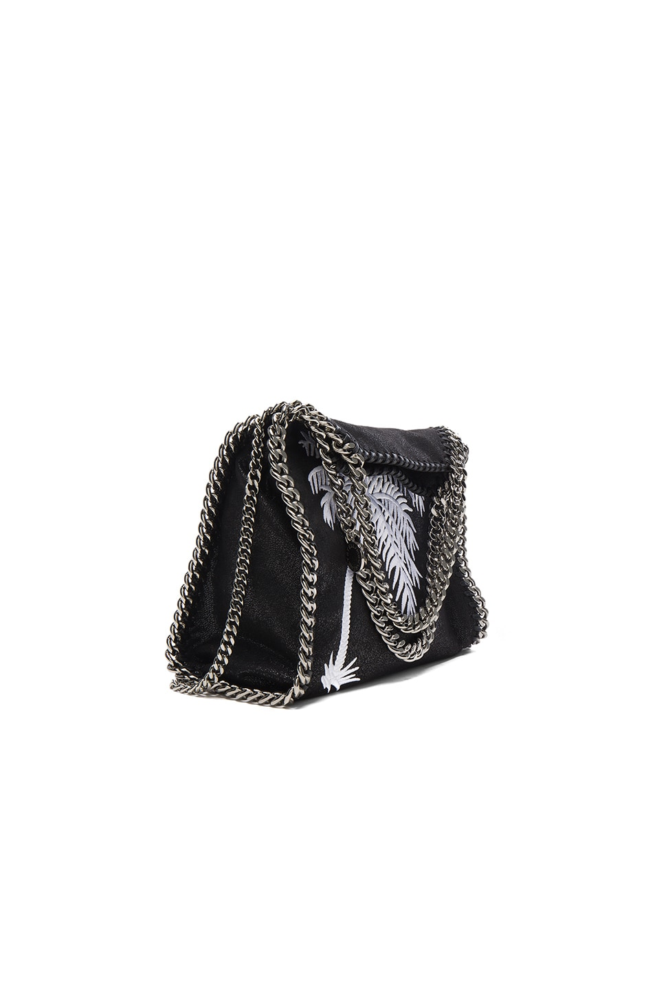 Image 1 of Stella McCartney Palm Tree Embroidery Falabella Mini Bella in Black