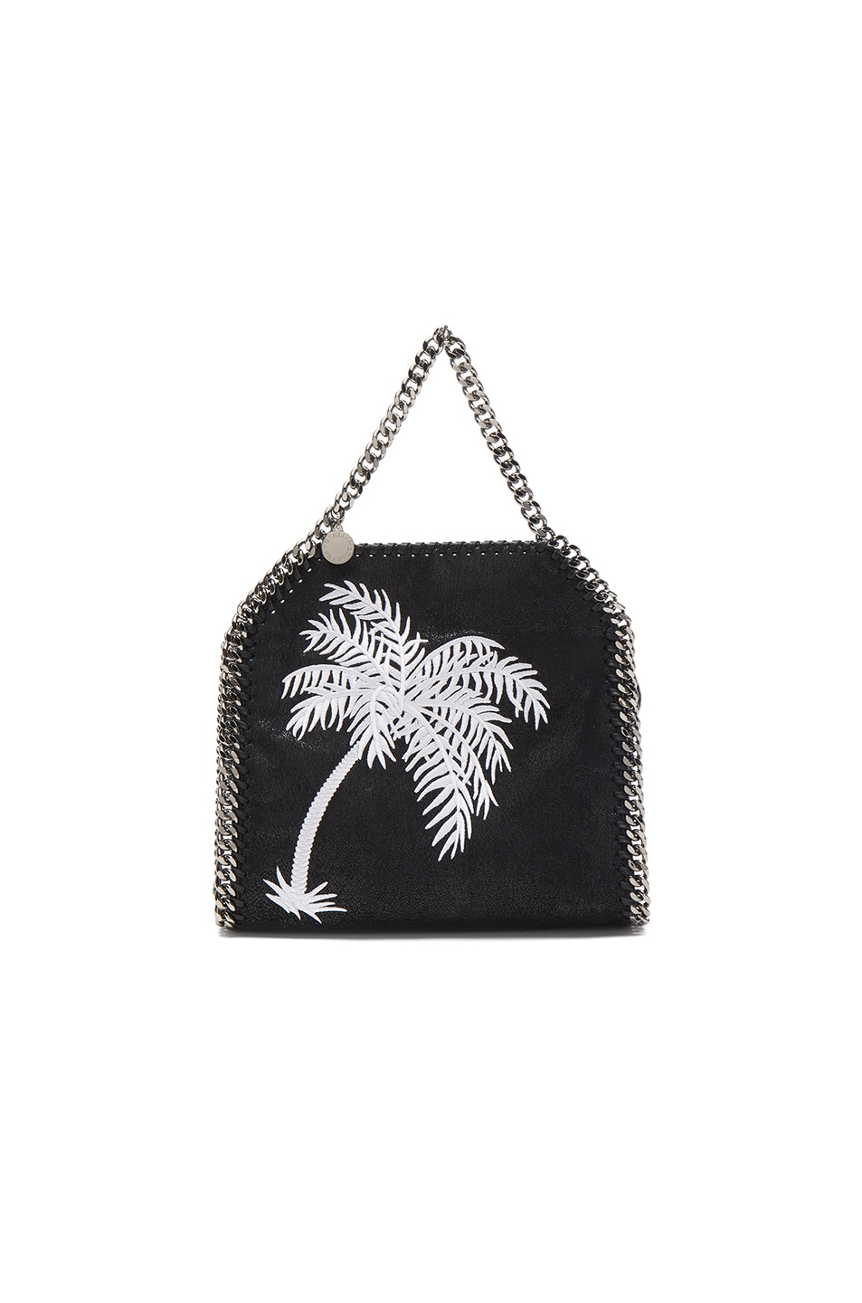 Image 2 of Stella McCartney Palm Tree Embroidery Falabella Mini Bella in Black