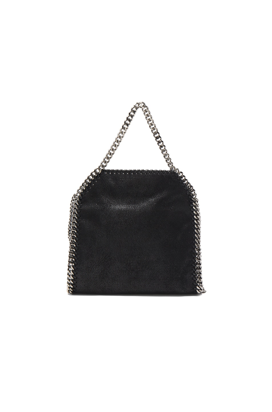 Image 3 of Stella McCartney Palm Tree Embroidery Falabella Mini Bella in Black