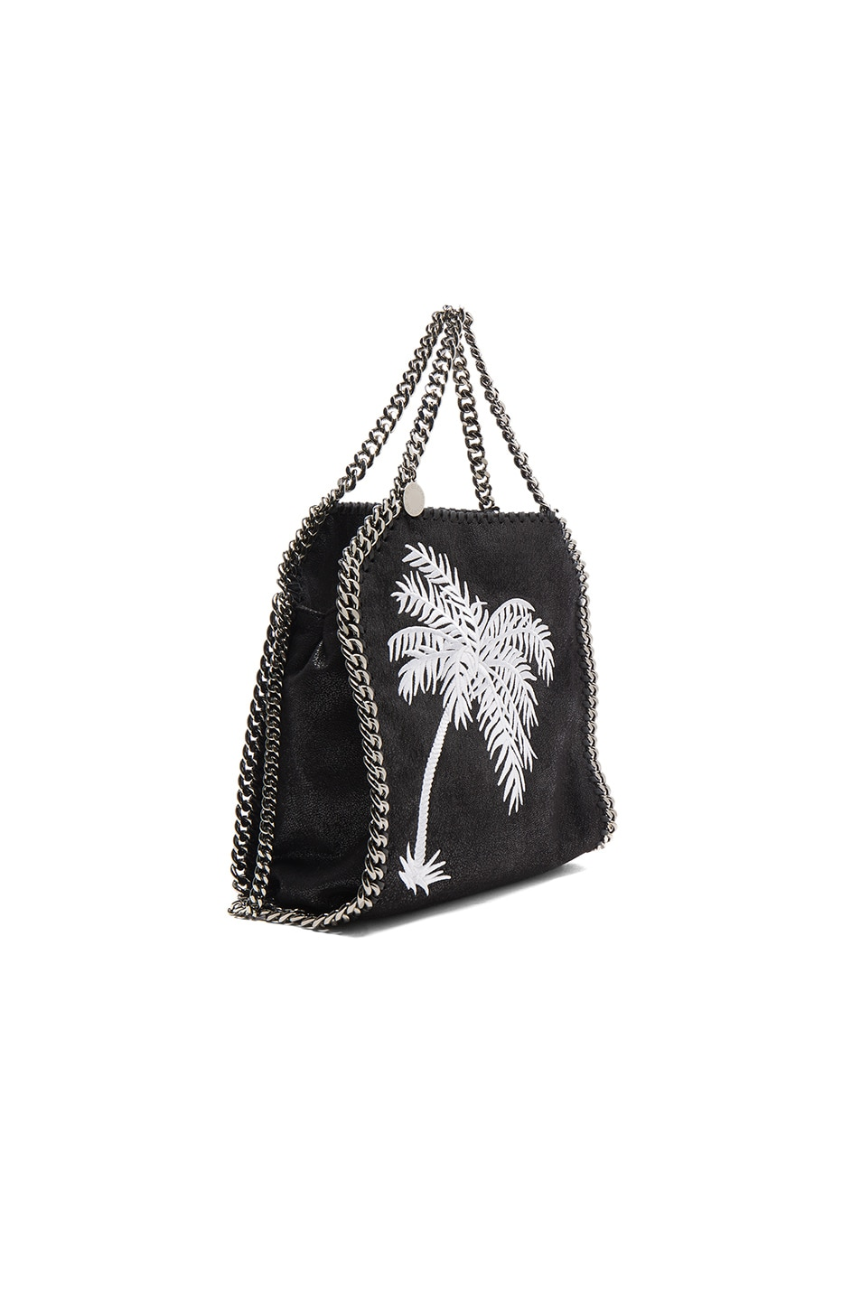 Image 4 of Stella McCartney Palm Tree Embroidery Falabella Mini Bella in Black