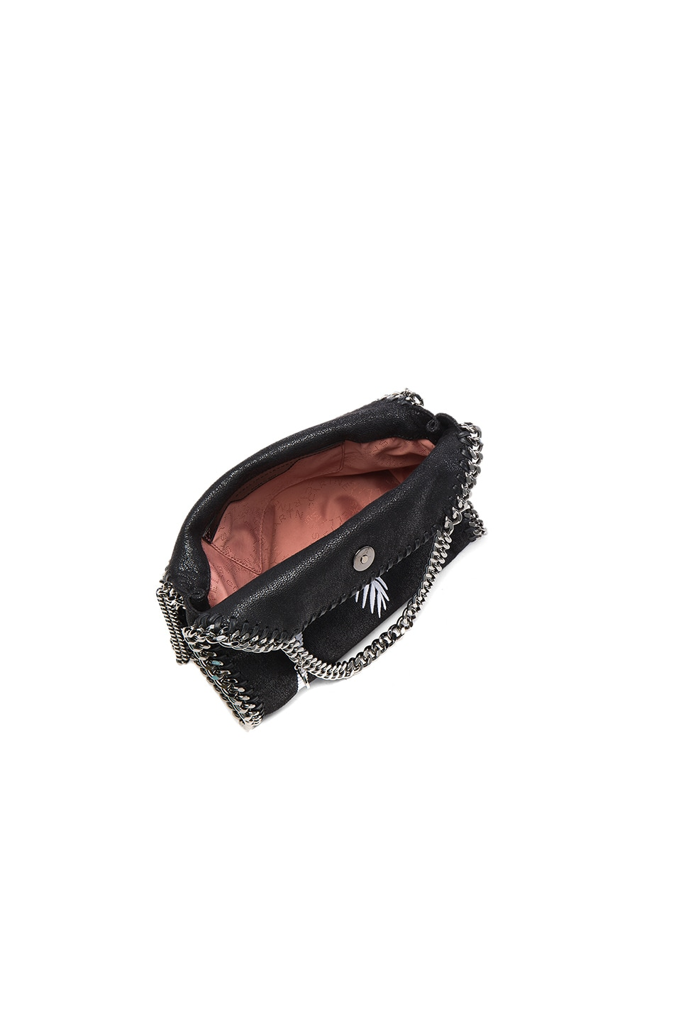 Image 5 of Stella McCartney Palm Tree Embroidery Falabella Mini Bella in Black