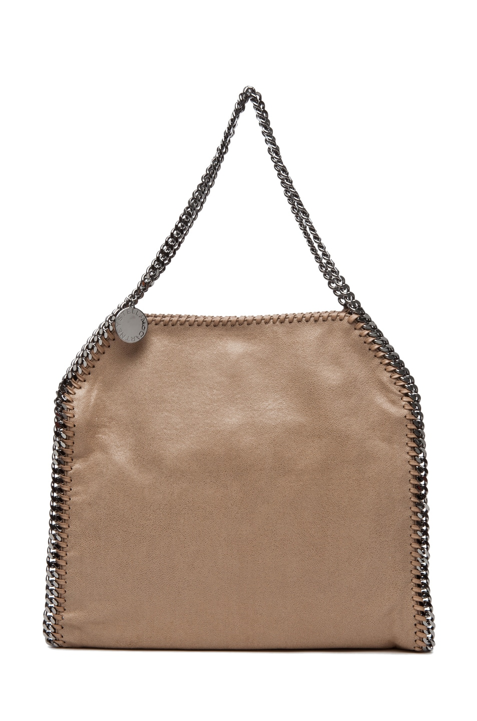 Image 1 of Stella McCartney Shaggy Deer Small Tote in Toffee