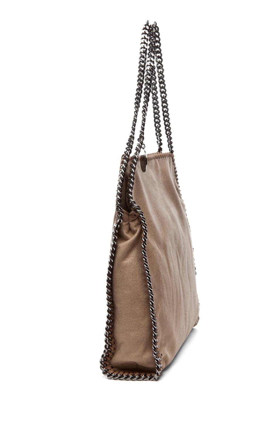 Image 3 of Stella McCartney Shaggy Deer Small Tote in Toffee