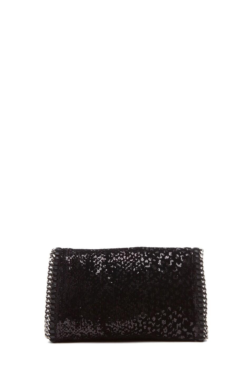 Image 2 of Stella McCartney Velvet Paillettes Clutch in Black