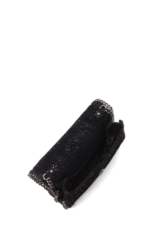 Image 4 of Stella McCartney Velvet Paillettes Clutch in Black