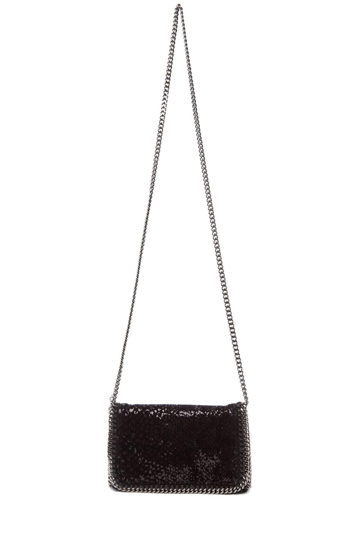 Image 5 of Stella McCartney Velvet Paillettes Clutch in Black