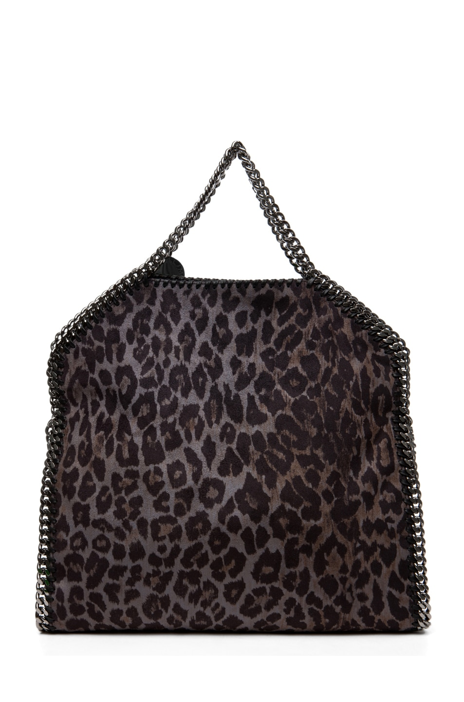 Image 2 of Stella McCartney Small Leopard Faux Suede Tote in Bark