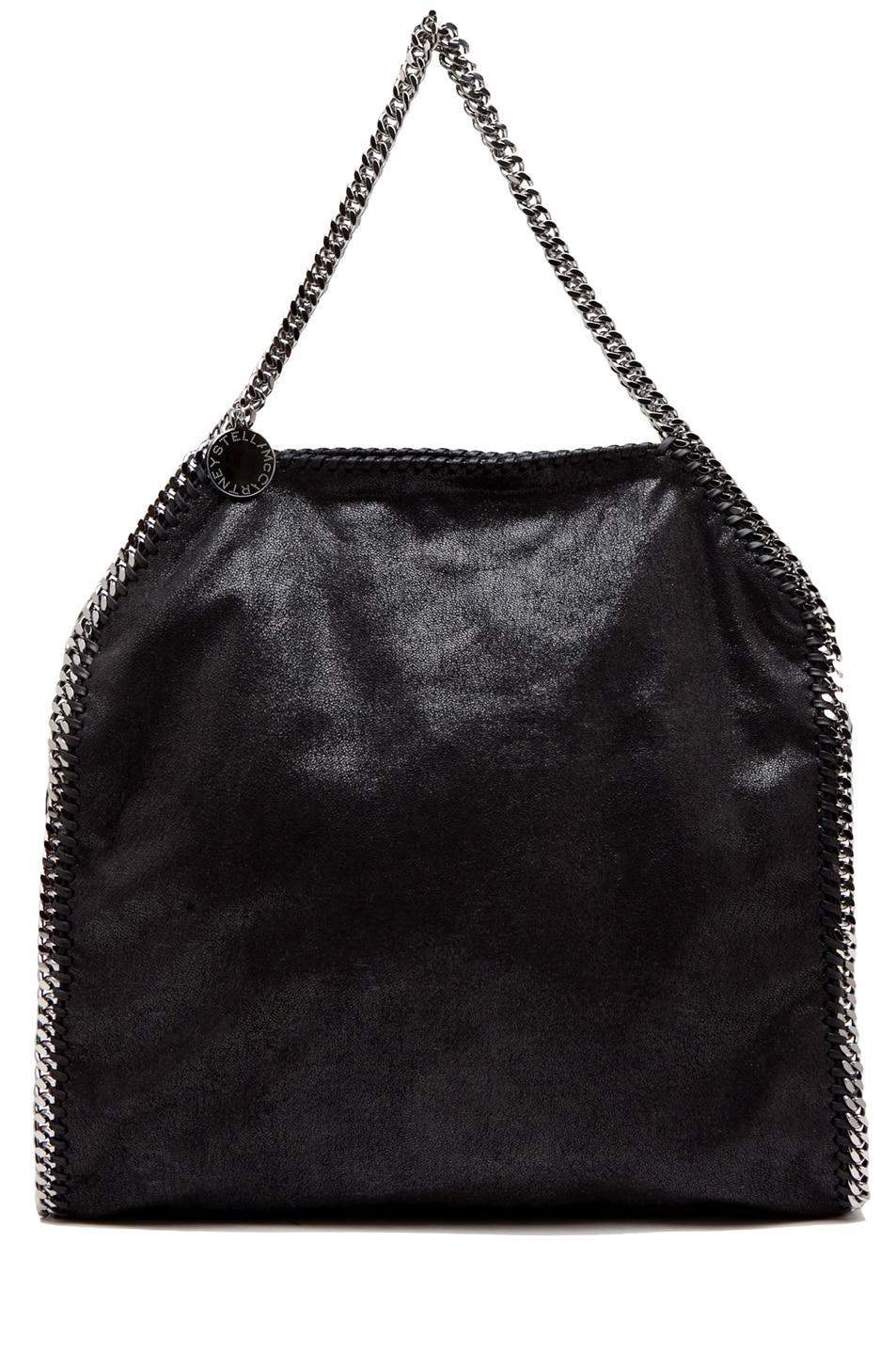 Image 1 of Stella McCartney Big Shaggy Deer Falabella Tote in Black