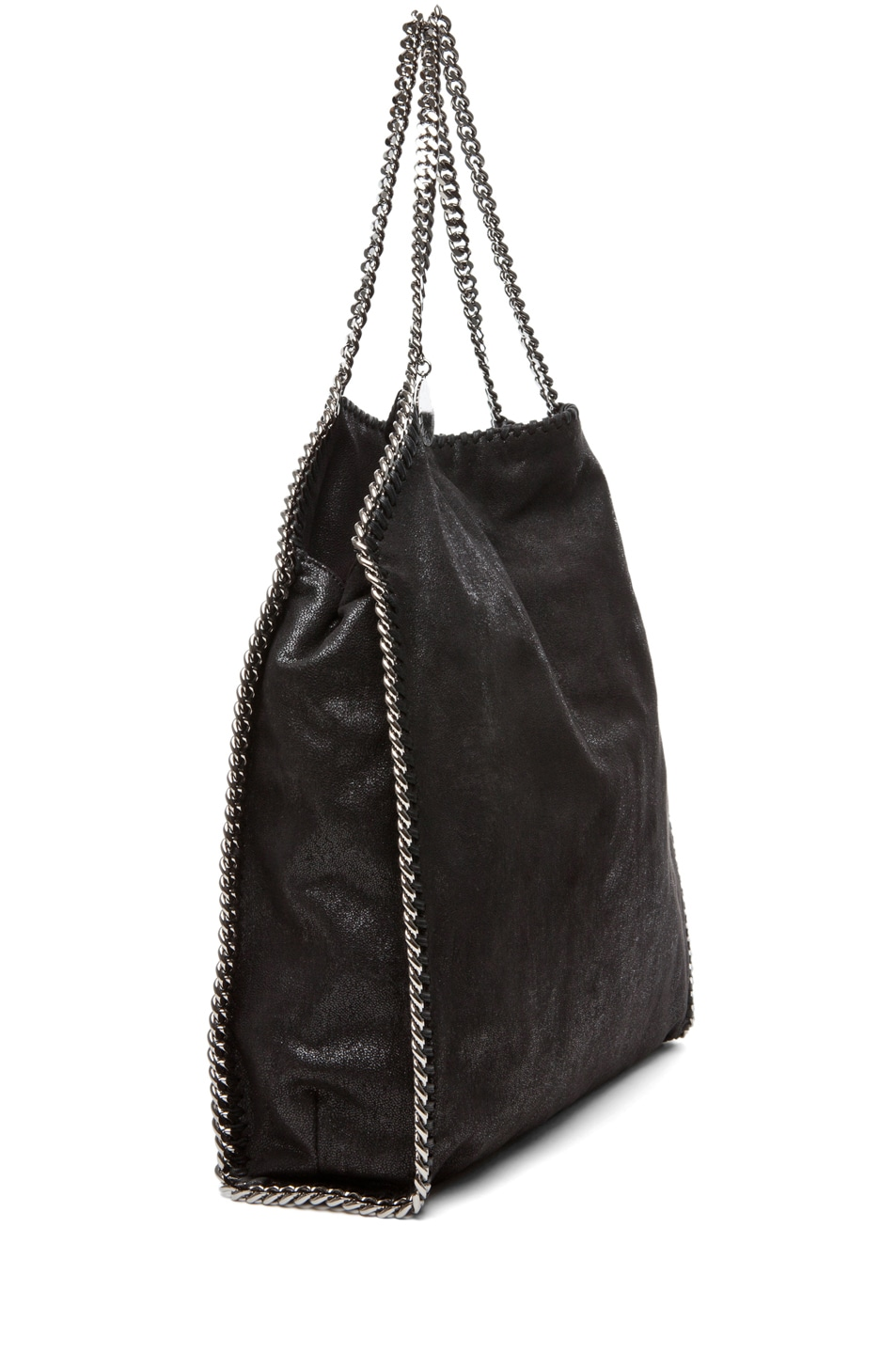 Image 3 of Stella McCartney Big Shaggy Deer Falabella Tote in Black