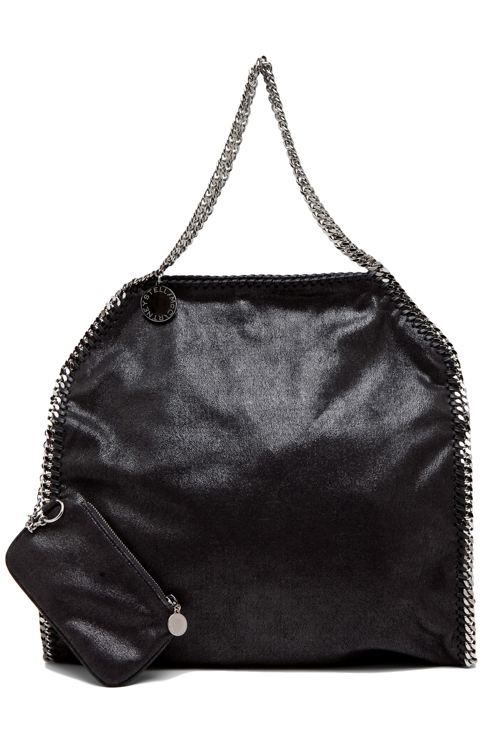 Image 4 of Stella McCartney Big Shaggy Deer Falabella Tote in Black
