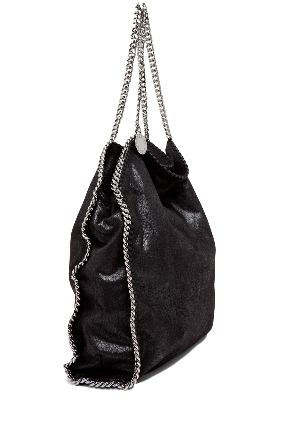 Image 7 of Stella McCartney Big Shaggy Deer Falabella Tote in Black